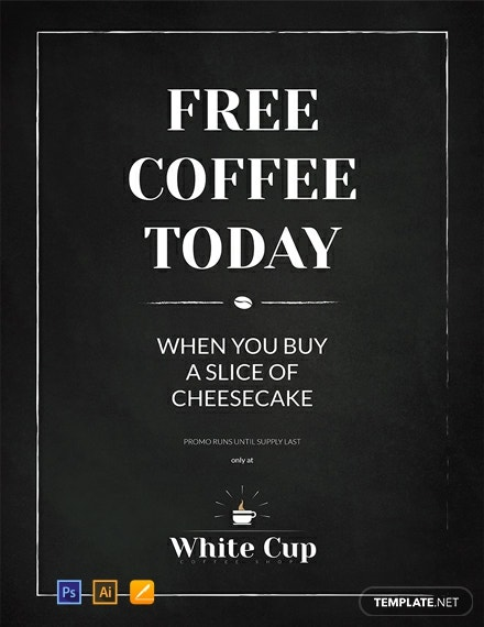 Free Chalkboard Poster Template