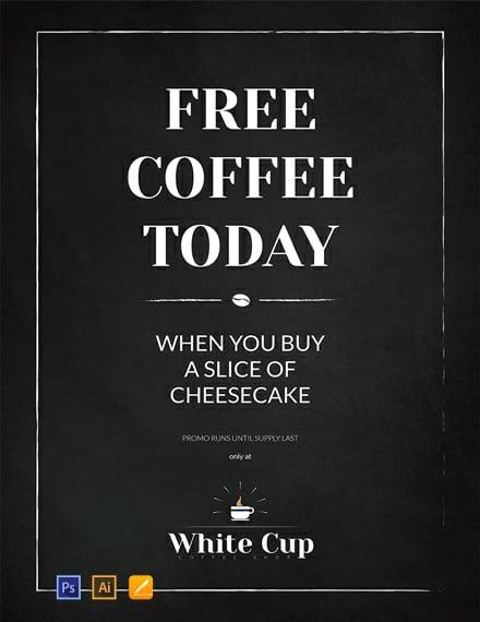 Free Chalkboard Poster Template