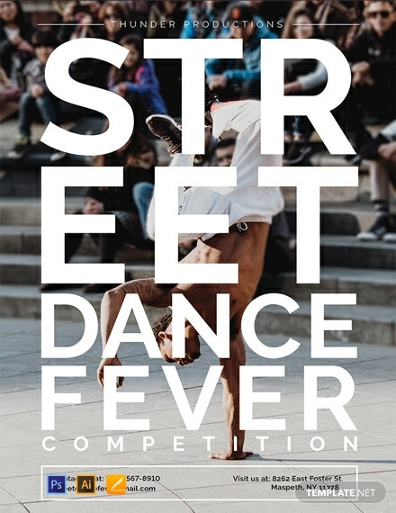 Free Dance Poster Template