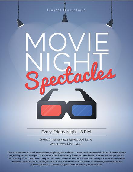 Free Movie Night Poster Template