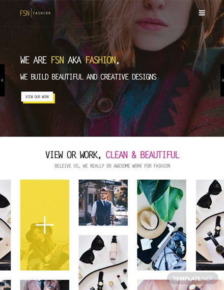 Free Fashion Designer HTML5/CSS3 Website Template