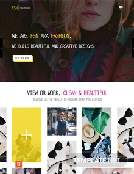 Fashion Designer HTML5/CSS3 Website Template