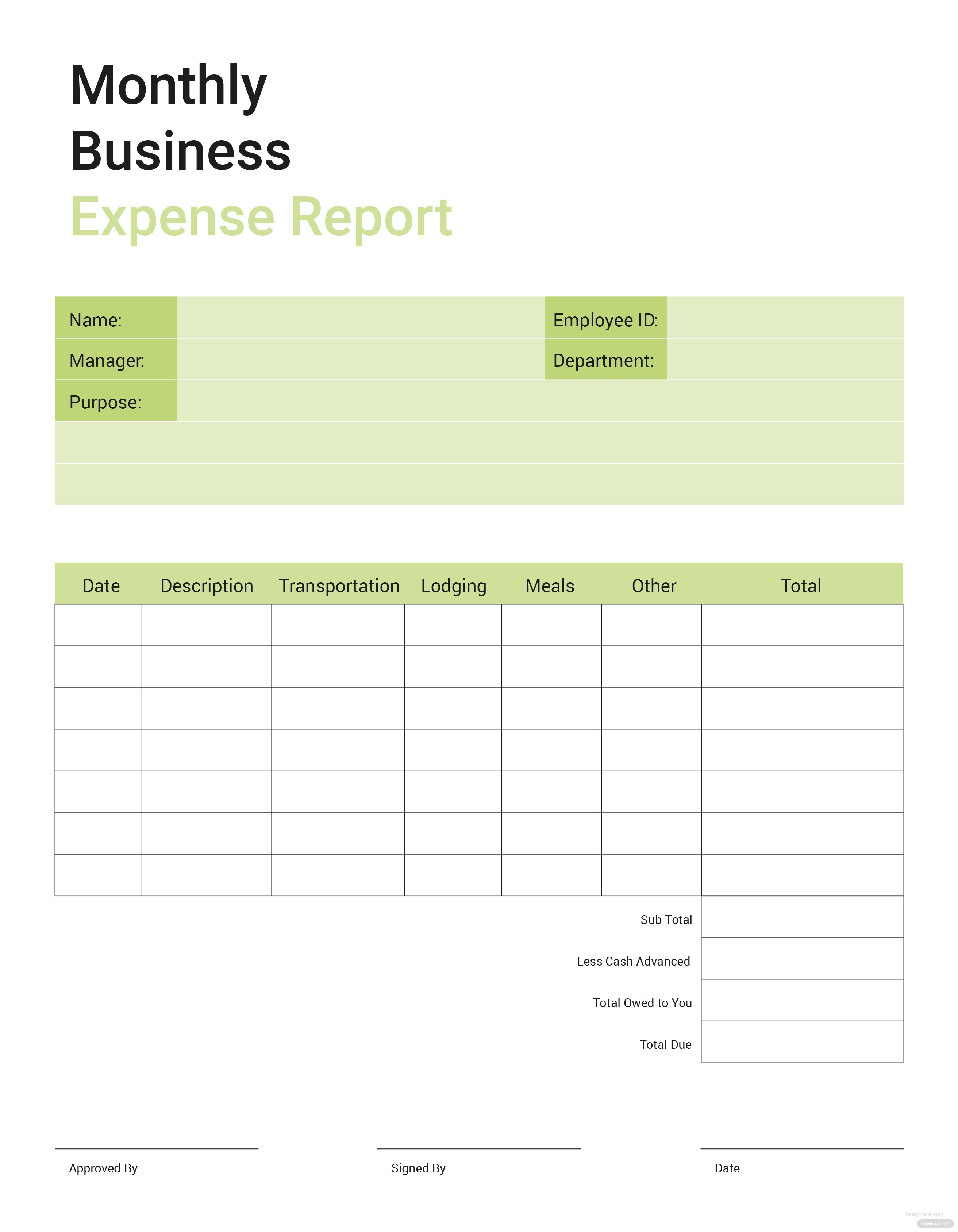 Free business expense report template in microsoft word microsoft business expense report template flashek Image collections