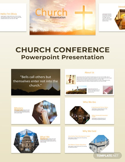 Free Church Conference Powerpoint Presentation Template