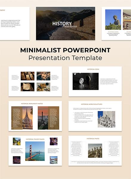 Minimalist Powerpoint Presentation Template