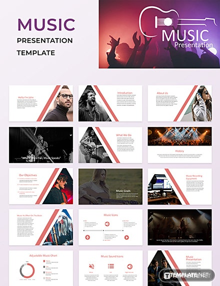 Free Music Powerpoint Presentation Template