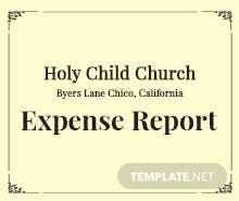 Church Expense Report Template