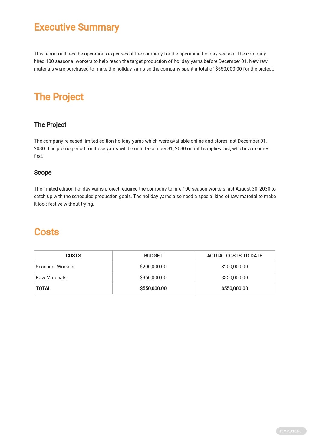 Free Company Expense Report Template 1.jpe