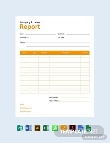 Free Company Expense Report Template