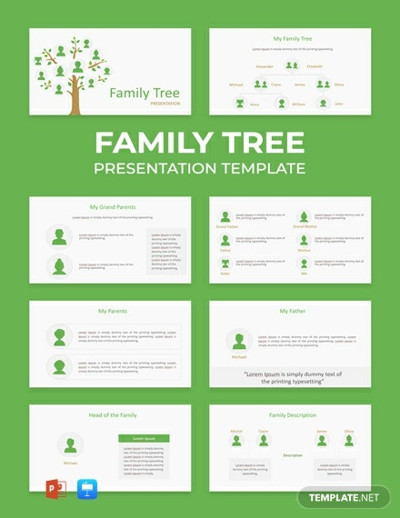 Free Family Tree Powerpoint Presentation Template