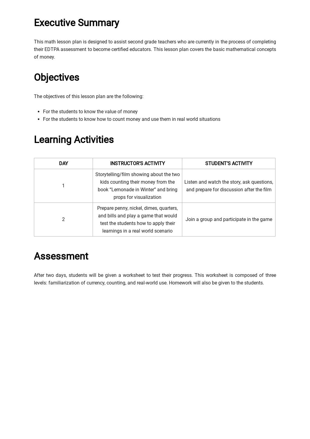 EDTPA Math Lesson Plan Template 1.jpe