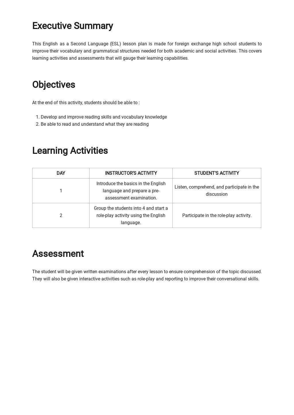 ESL Daily Lesson Plan Template 1.jpe
