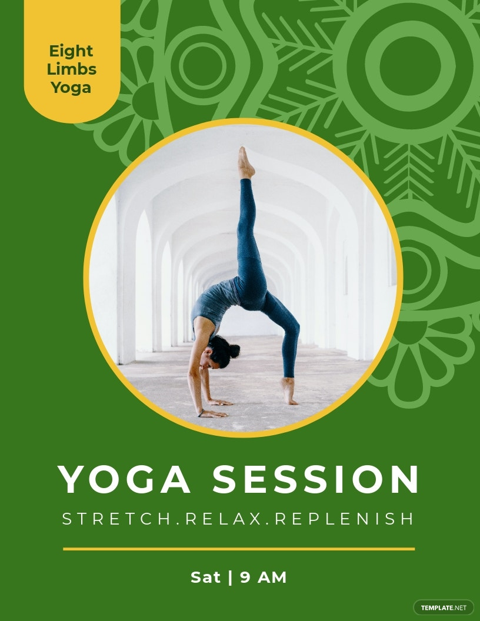 Yoga Classes Promotion Flyer Template
