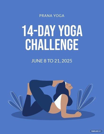 Yoga Challenge Flyer Template