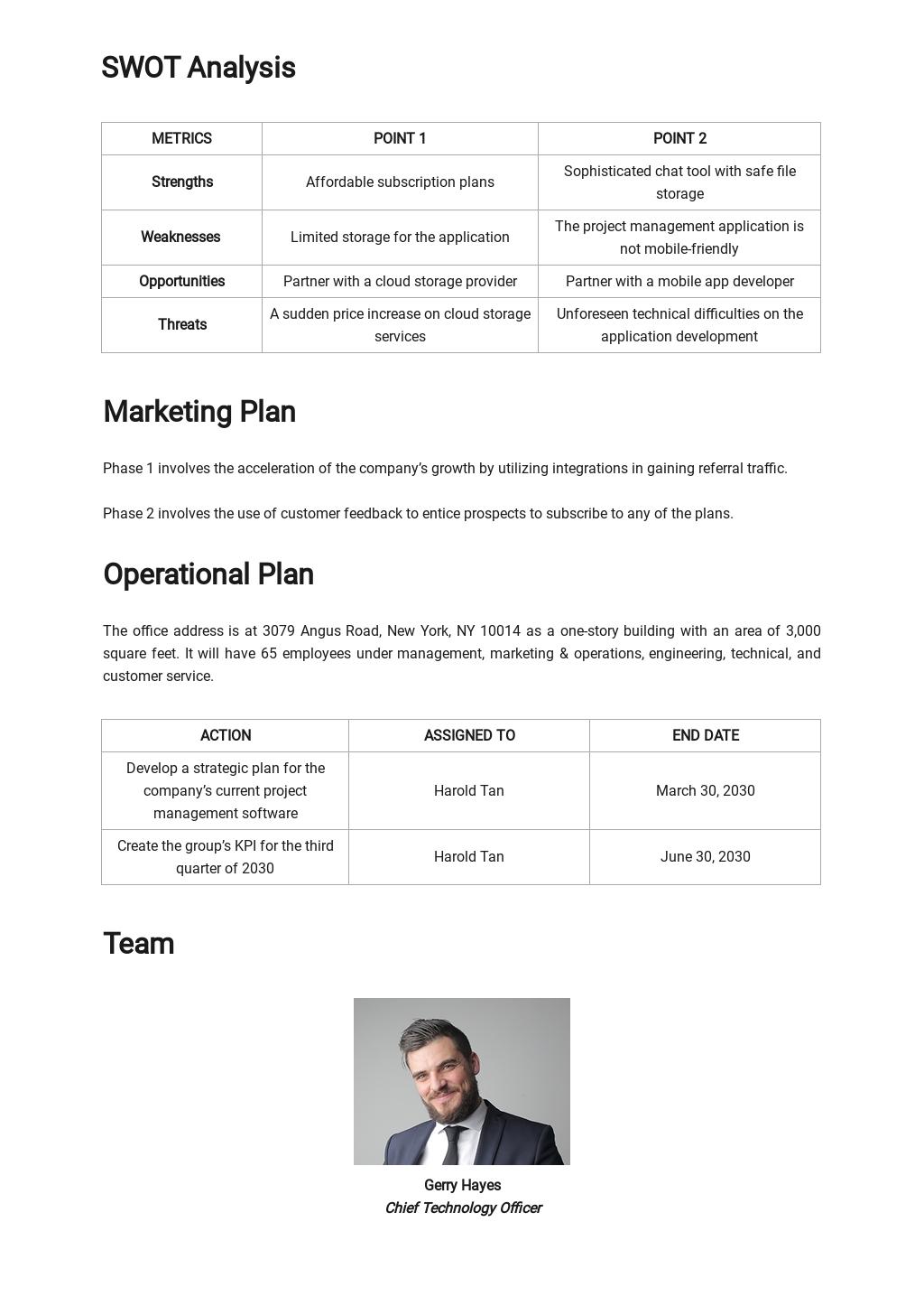 Sample Lean Business Plan Template 2.jpe