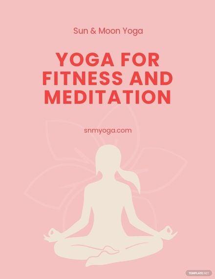 Yoga Advertisement Flyer Template