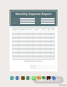 Free Contractor Expense Report Template