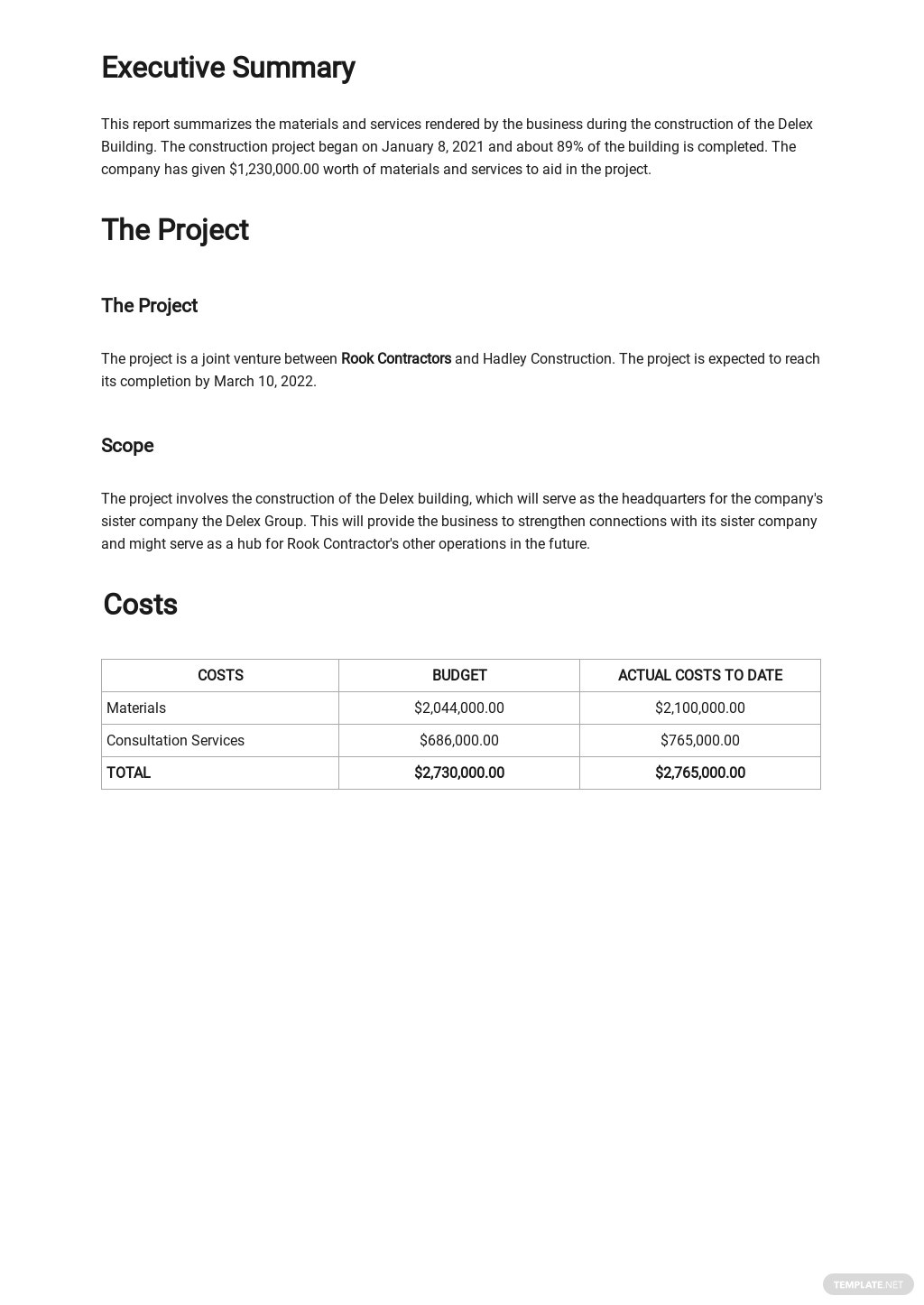 Free Contractor Expense Report Template 1.jpe
