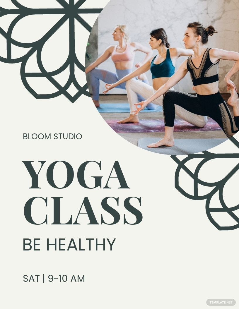 Yoga Classes Offer Flyer Template