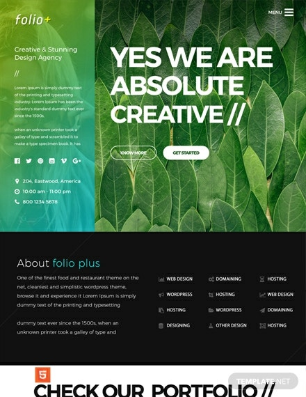 Free Design Agency HTML5/CSS3 Website Template
