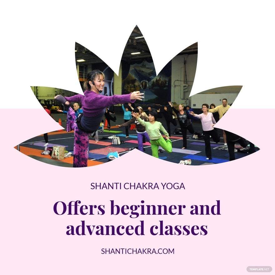 Yoga Class Instagram Post Template.jpe