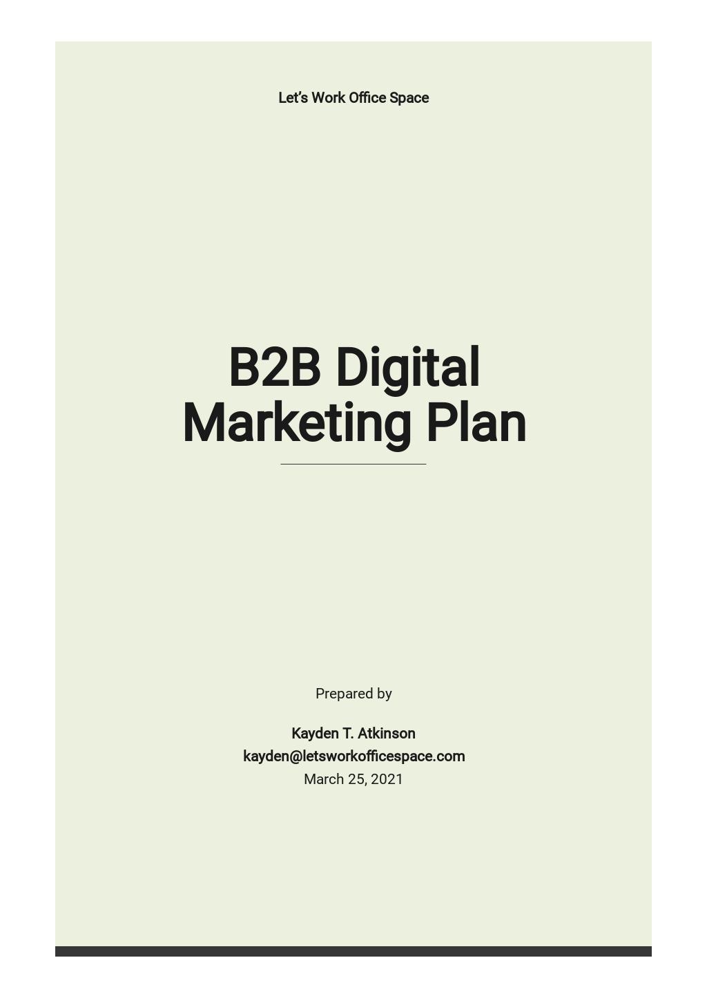B2B Digital Marketing Plan Template.jpe