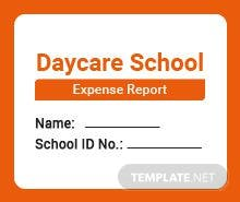 Daycare Expense Report Template