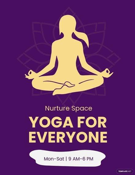 Yoga Centre Flyer Template