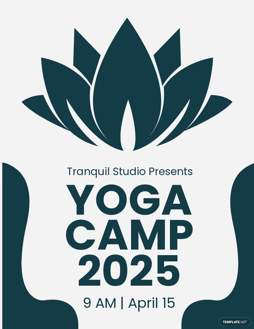 Yoga Camp Flyer Template