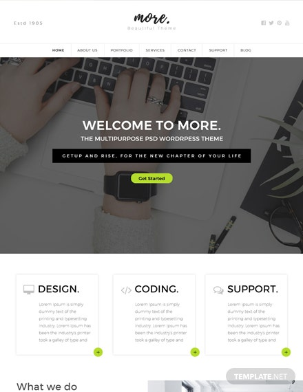 Free Multipurpose HTML5/CSS3 Website Template