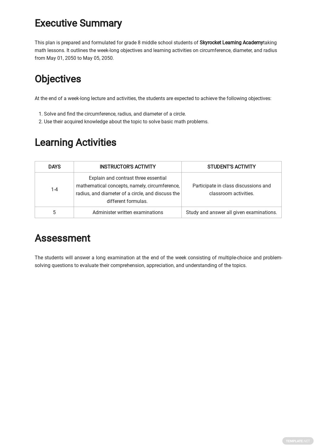 Middle School Math Lesson Plan Template 1.jpe