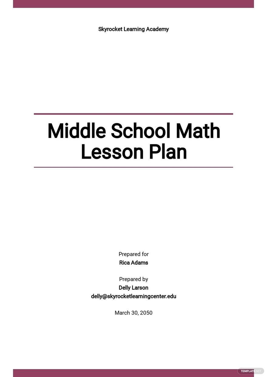 Middle School Math Lesson Plan Template.jpe