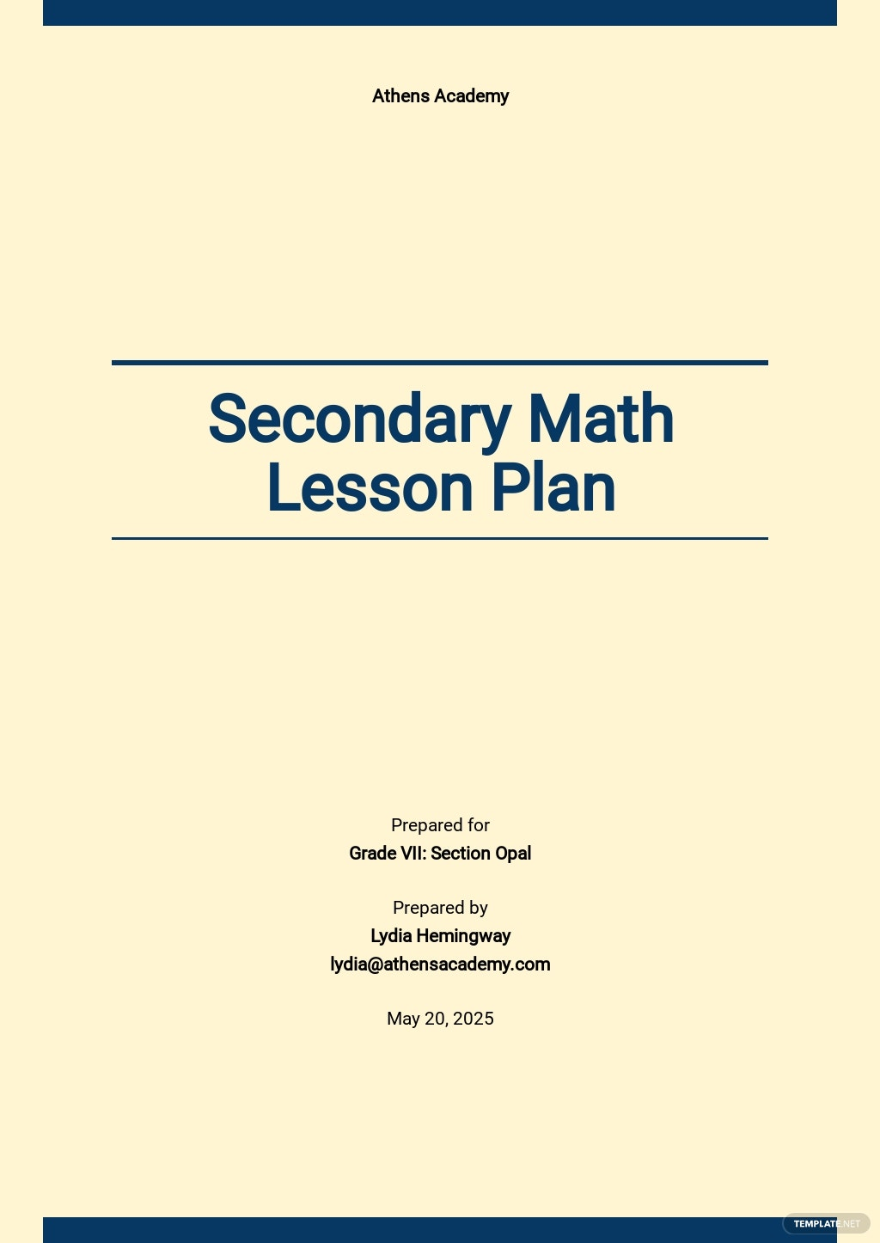 Secondary Math Lesson Plan Template.jpe