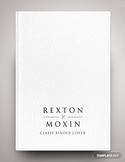 Free Classy Binder Cover Template