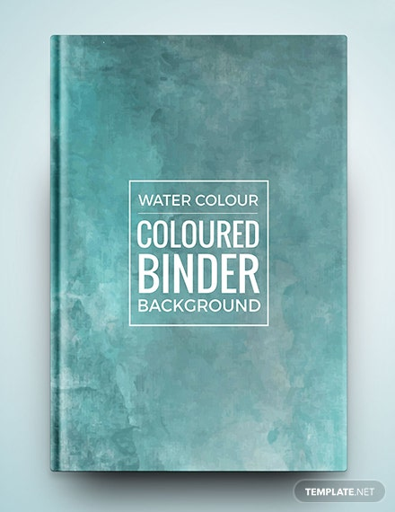 Free Watercolour Binder Cover
