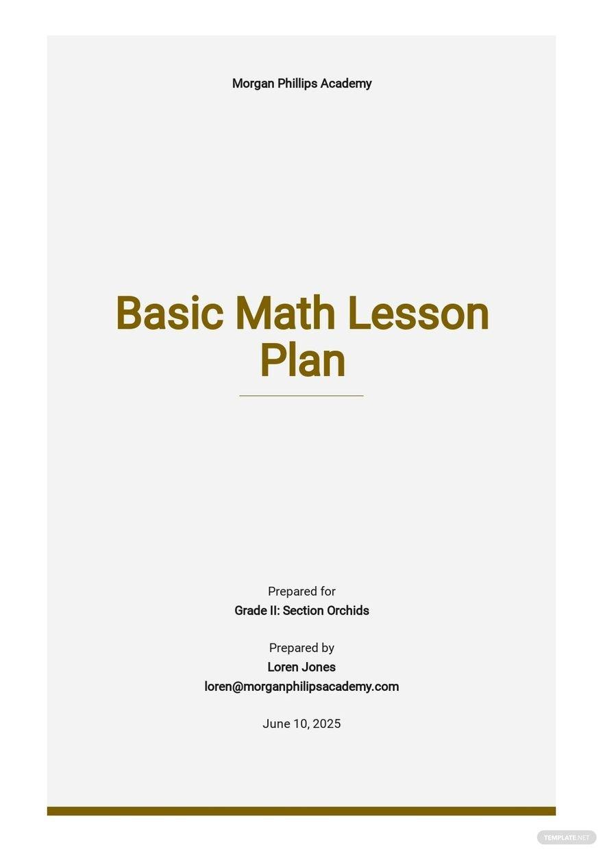 Basic Math Lesson Plan Template.jpe