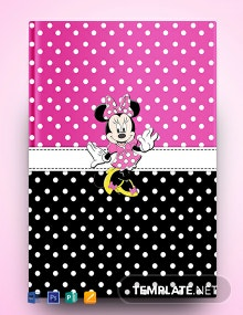 Free Minnie Mouse Binder Cover Template