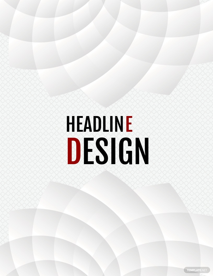 Elegant Binder Cover Template