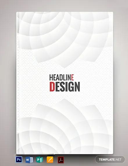 Free Elegant Binder Cover Template