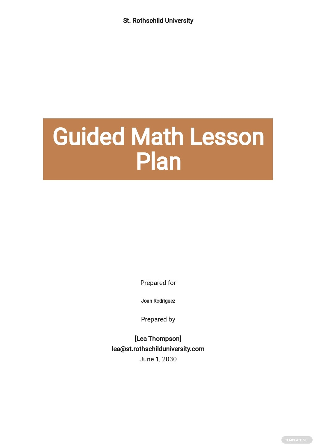 Guided Math Lesson Plan Template.jpe