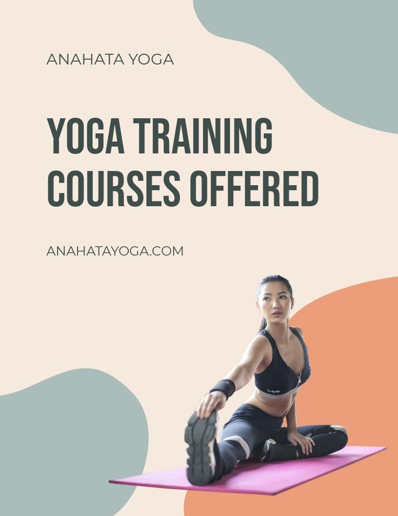 Yoga Training Flyer Template