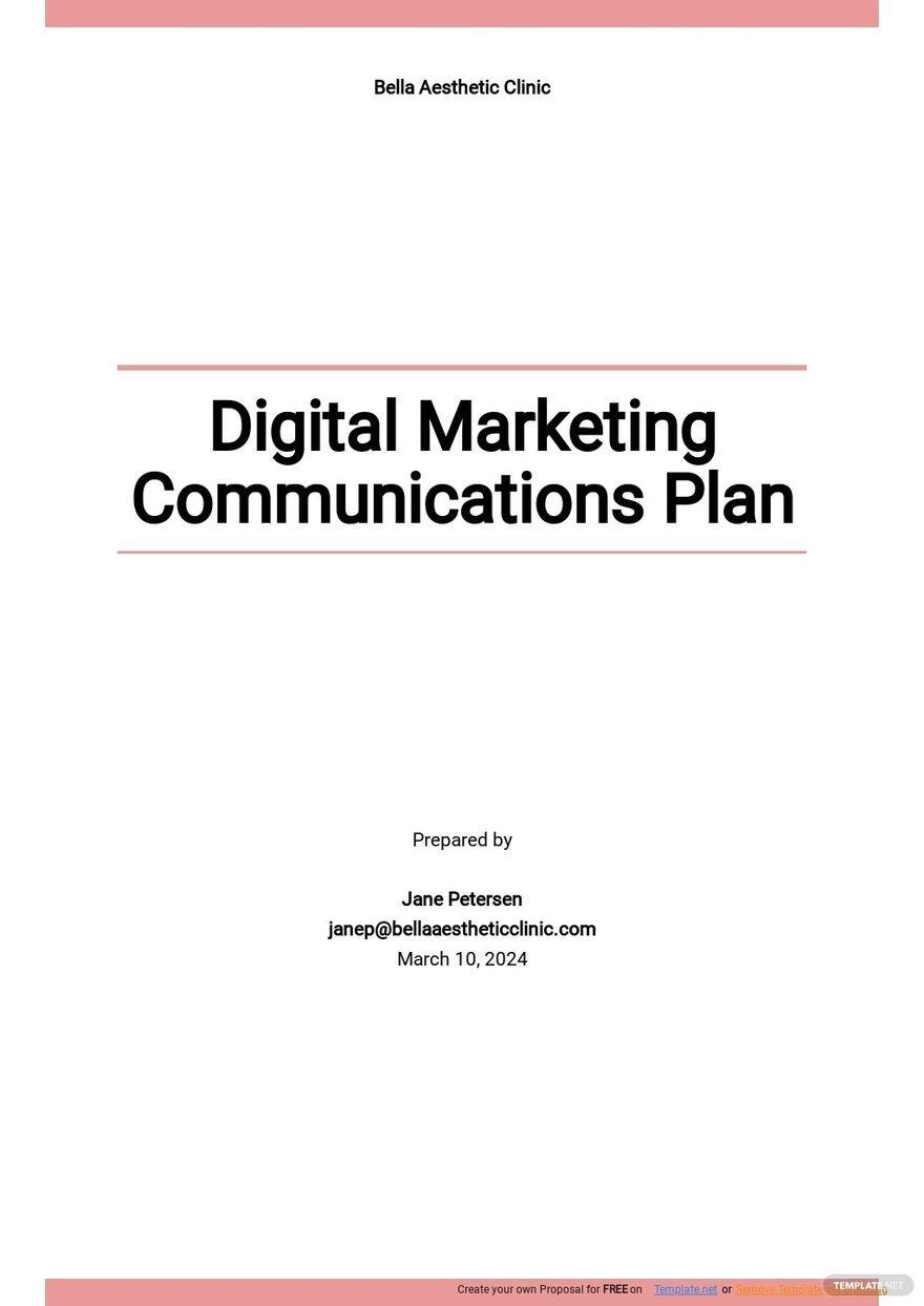 Digital Marketing Communications Plan Template.jpe