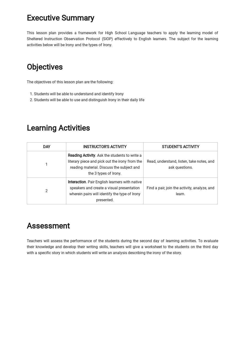 Blank SIOP Lesson Plan Template 1.jpe