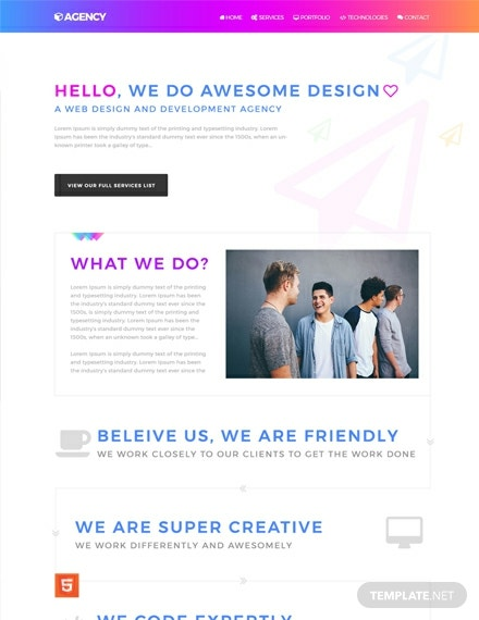 Agency HTMLCSS Website Template