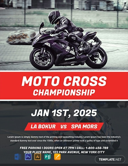 free moto rally flyer template  download 1580  flyers in