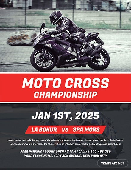 Free Moto Rally Flyer Template