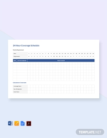 Free 24 Hour Coverage Schedule Template