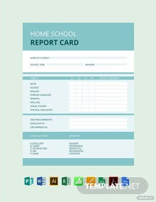 Home School Report Card Template
