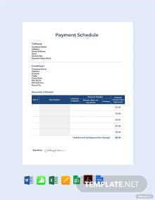 Free Payment Schedule Template