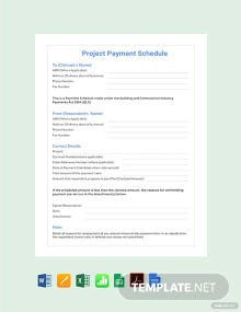 Free Project Payment Schedule Template